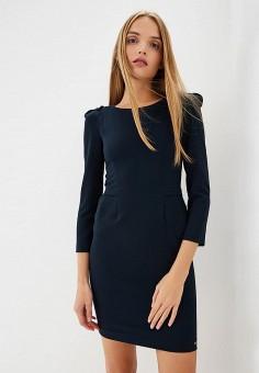 Платье, Armani Exchange, цвет: синий. Артикул: AR037EWBLFB5. Одежда / Платья и сарафаны