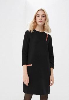 Платье, Armani Exchange, цвет: черный. Артикул: AR037EWBLFC0. Одежда / Платья и сарафаны