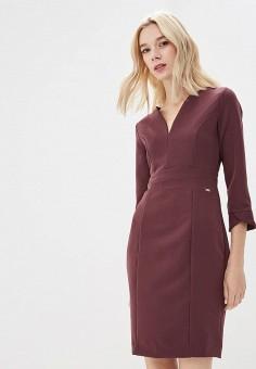 Платье, Armani Exchange, цвет: бордовый. Артикул: AR037EWBLFC6. Одежда / Платья и сарафаны