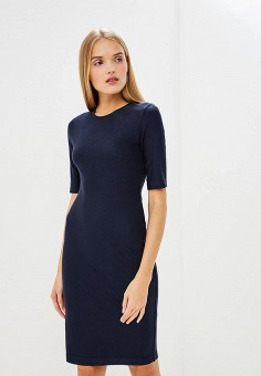 Платье, Armani Exchange, цвет: синий. Артикул: AR037EWBLFD7. Premium / Одежда / Платья и сарафаны