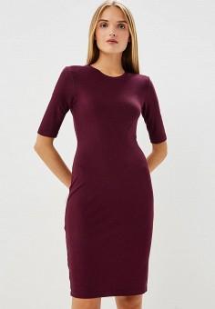 Платье, Armani Exchange, цвет: бордовый. Артикул: AR037EWBLFD8. Одежда / Платья и сарафаны