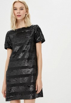 Платье, Armani Exchange, цвет: черный. Артикул: AR037EWBLFE0. Одежда / Платья и сарафаны