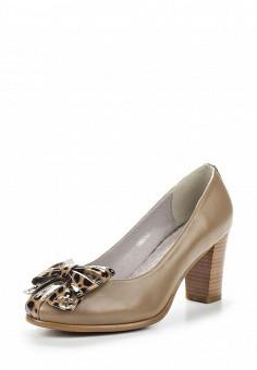 Туфли, Ascalini, цвет: коричневый. Артикул: AS006AWANJS9. Обувь / Туфли / Закрытые туфли