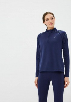 Олимпийка, ASICS, цвет: синий. Артикул: AS455EWBRMF1. Одежда / Толстовки и свитшоты