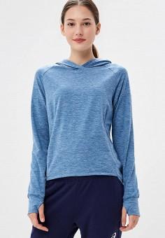 Худи, ASICS, цвет: голубой. Артикул: AS455EWBRMN3. Одежда / Толстовки и свитшоты
