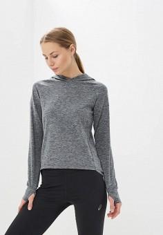 Худи, ASICS, цвет: серый. Артикул: AS455EWZTG54. Одежда / Толстовки и свитшоты