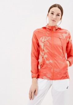 Ветровка, ASICS, цвет: оранжевый. Артикул: AS455EWZTI53. Одежда / Верхняя одежда / Легкие куртки и ветровки