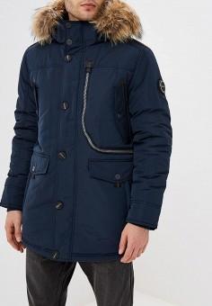Куртка утепленная, Baon, цвет: синий. Артикул: BA007EMCLAI3. Одежда / Верхняя одежда / Пуховики и зимние куртки