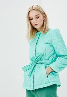 Куртка утепленная, Baon, цвет: зеленый. Артикул: BA007EWAYKI4. Одежда / Верхняя одежда / Демисезонные куртки