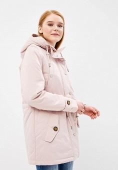 Парка, Baon, цвет: розовый. Артикул: BA007EWAYKI9. Одежда / Верхняя одежда / Парки