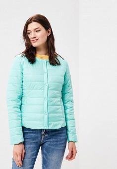 Куртка утепленная, Baon, цвет: бирюзовый. Артикул: BA007EWAYKK3. Одежда / Верхняя одежда / Демисезонные куртки