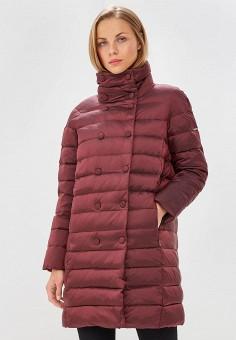 Пуховик, Baon, цвет: бордовый. Артикул: BA007EWCLBG7. Одежда / Верхняя одежда / Зимние куртки