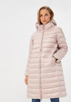 Пуховик, Baon, цвет: розовый. Артикул: BA007EWCLBJ1. Одежда / Верхняя одежда / Зимние куртки