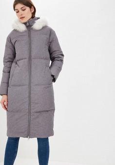 Пуховик, Baon, цвет: серый. Артикул: BA007EWCLCN9. Одежда / Верхняя одежда