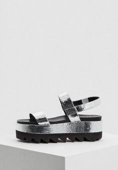 Босоножки, Ballin, цвет: серебряный. Артикул: BA051AWBDOR2. Premium / Обувь / Босоножки