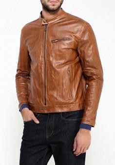 Куртка кожаная, Bata, цвет: коричневый. Артикул: BA060EMKXA43. Одежда / Верхняя одежда / Кожаные куртки
