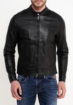 Куртка кожаная, Bata, цвет: черный. Артикул: BA060EMQDY27. Одежда / Верхняя одежда / Кожаные куртки
