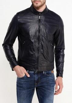 Куртка кожаная, Bata, цвет: синий. Артикул: BA060EMQDY28. Одежда / Верхняя одежда / Кожаные куртки