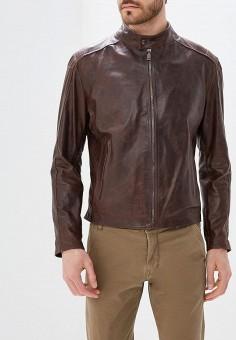 Куртка кожаная, Bata, цвет: коричневый. Артикул: BA060EMZPD31. Одежда / Верхняя одежда / Кожаные куртки