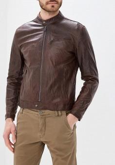 Куртка кожаная, Bata, цвет: коричневый. Артикул: BA060EMZPD32. Одежда / Верхняя одежда / Кожаные куртки