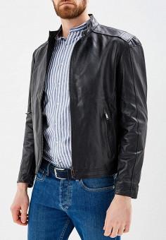 Куртка кожаная, Bata, цвет: черный. Артикул: BA060EMZPD33. Одежда / Верхняя одежда / Кожаные куртки
