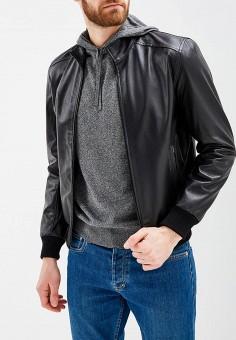 Куртка кожаная, Bata, цвет: черный. Артикул: BA060EMZPD34. Одежда / Верхняя одежда / Кожаные куртки