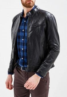 Куртка кожаная, Bata, цвет: черный. Артикул: BA060EMZPD35. Одежда / Верхняя одежда / Кожаные куртки