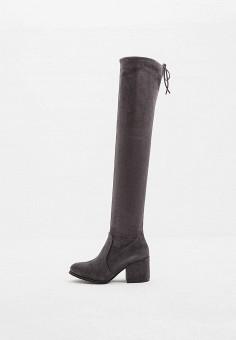 Ботфорты, Baldinini, цвет: серый. Артикул: BA097AWCEGG2. Обувь