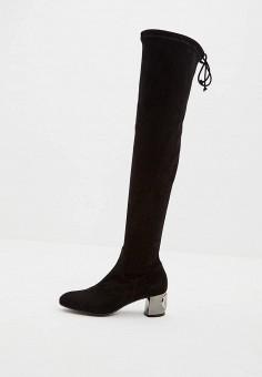 Ботфорты, Baldinini, цвет: черный. Артикул: BA097AWCEGG3. Обувь