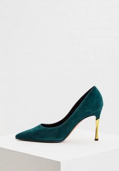 Туфли, Baldinini, цвет: зеленый. Артикул: BA097AWCEGI1. Обувь