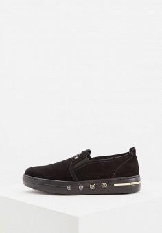 Слипоны, Baldinini, цвет: черный. Артикул: BA097AWCEGP2. Обувь