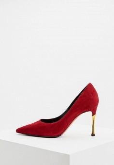 Туфли, Baldinini, цвет: бордовый. Артикул: BA097AWCEGR4. Обувь