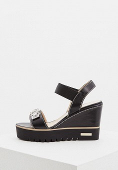 Босоножки, Baldinini, цвет: черный. Артикул: BA097AWPUX69. Premium / Обувь / Босоножки