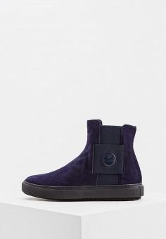 Слипоны, Baldinini, цвет: синий. Артикул: BA097AWTCB35. Обувь