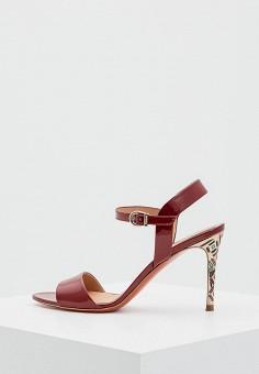 Босоножки, Baldinini, цвет: красный. Артикул: BA097AWZYG95. Premium / Обувь / Босоножки