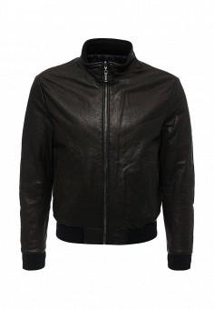 Куртка кожаная, Baldinini, цвет: коричневый. Артикул: BA097EMVJB28. Одежда / Верхняя одежда / Кожаные куртки
