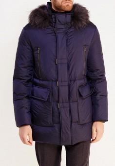 Пуховик, Baldinini, цвет: синий. Артикул: BA097EMVJB32. Одежда / Верхняя одежда / Пуховики и зимние куртки