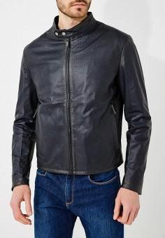 Куртка кожаная, Baldinini, цвет: синий. Артикул: BA097EMZYG98. Одежда / Верхняя одежда / Кожаные куртки