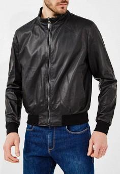 Куртка кожаная, Baldinini, цвет: черный. Артикул: BA097EMZYG99. Одежда / Верхняя одежда / Кожаные куртки