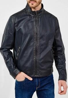 Куртка кожаная, Baldinini, цвет: синий. Артикул: BA097EMZYH00. Одежда / Верхняя одежда / Кожаные куртки