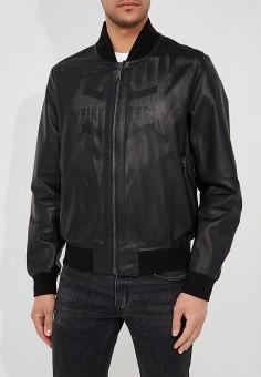 Куртка кожаная, Baldinini, цвет: черный. Артикул: BA097EMZYH02. Одежда / Верхняя одежда / Кожаные куртки