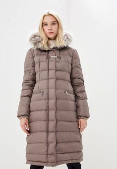 Пуховик, Baldinini, цвет: бежевый. Артикул: BA097EWCEGU6. Premium / Одежда / Верхняя одежда / Зимние куртки