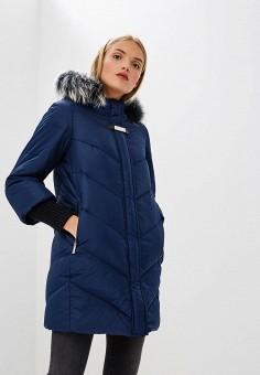 Пуховик, Baldinini, цвет: синий. Артикул: BA097EWCEGU7. Premium / Одежда / Верхняя одежда / Зимние куртки