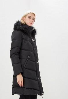 Пуховик, Baldinini, цвет: черный. Артикул: BA097EWCEGV2. Premium / Одежда / Верхняя одежда / Зимние куртки