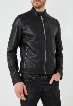 Куртка кожаная, Baldessarini, цвет: черный. Артикул: BA244EMBHSP4. Одежда / Верхняя одежда / Кожаные куртки
