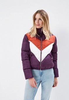 Куртка утепленная, Befree, цвет: фиолетовый. Артикул: BE031EWADNJ7. Одежда / Верхняя одежда / Демисезонные куртки