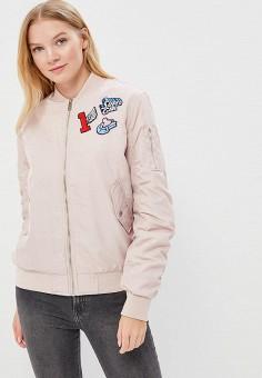 Куртка утепленная, Befree, цвет: розовый. Артикул: BE031EWADOT5. Одежда / Верхняя одежда / Демисезонные куртки