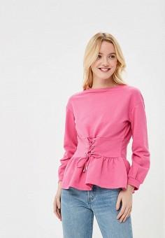 Свитшот, Befree, цвет: розовый. Артикул: BE031EWBAAE2. Одежда / Толстовки и свитшоты