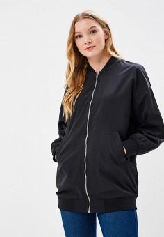Куртка, Befree, цвет: черный. Артикул: BE031EWBAAH1. Одежда / Верхняя одежда / Легкие куртки и ветровки