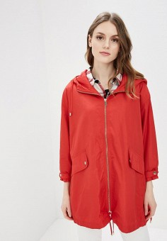 Парка, Befree, цвет: красный. Артикул: BE031EWBAAN4. Одежда / Верхняя одежда / Парки